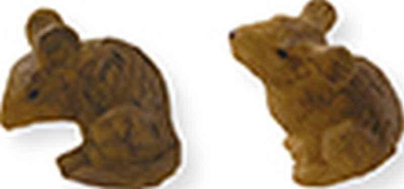 Krippenfiguren Tiere Mäuse Set Höhe ca 1,8cm für Figuren 9-13 cm