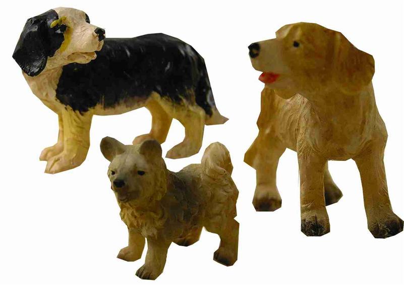 krippenfiguren tiere hunde 3 teilig f r figuren 13 17 cm. Black Bedroom Furniture Sets. Home Design Ideas