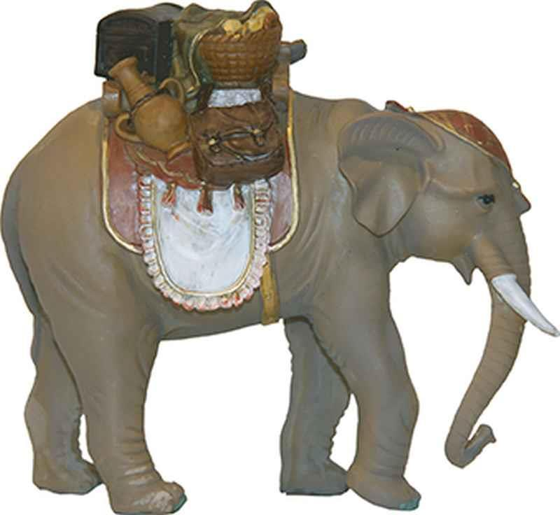 krippenfiguren tiere elefant mit gep ck f r figuren 10 13 cm. Black Bedroom Furniture Sets. Home Design Ideas