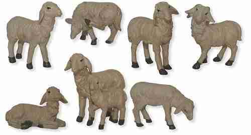 Mathias Krippe Krippenfiguren Hirte mit Stab und Schaf Größe ca13cm