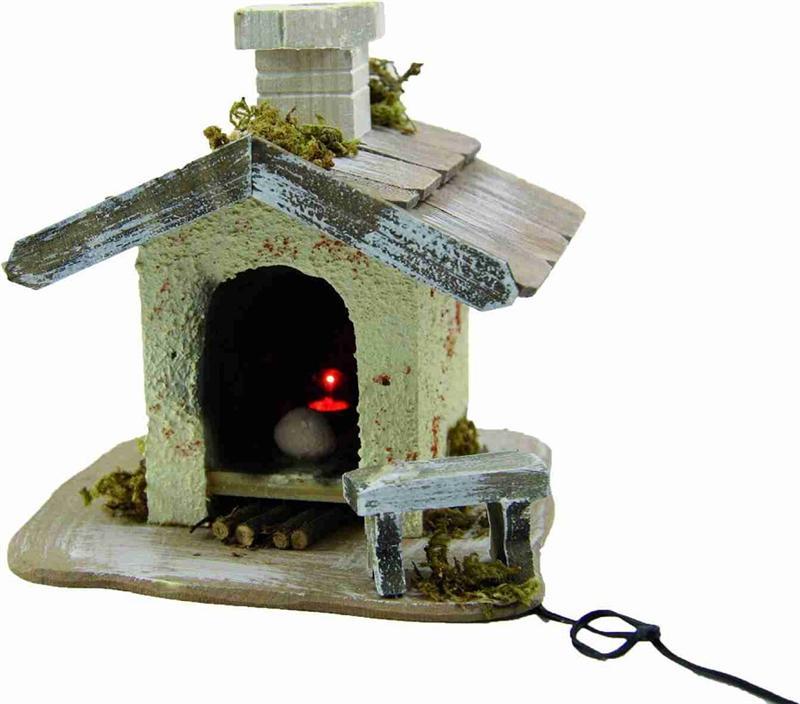 G Krippenfiguren Krippenzubehör Elektrik Backhaus beleuchtet Z2002K