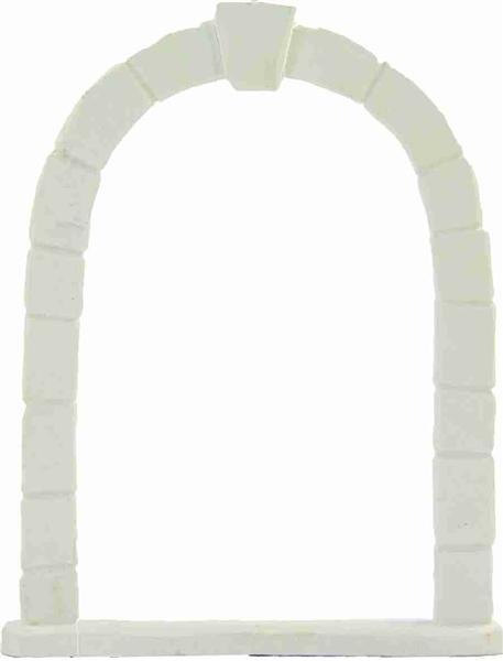 Krippenfiguren Krippenzubehör Torbogen in weiß Höhe ca.15cm