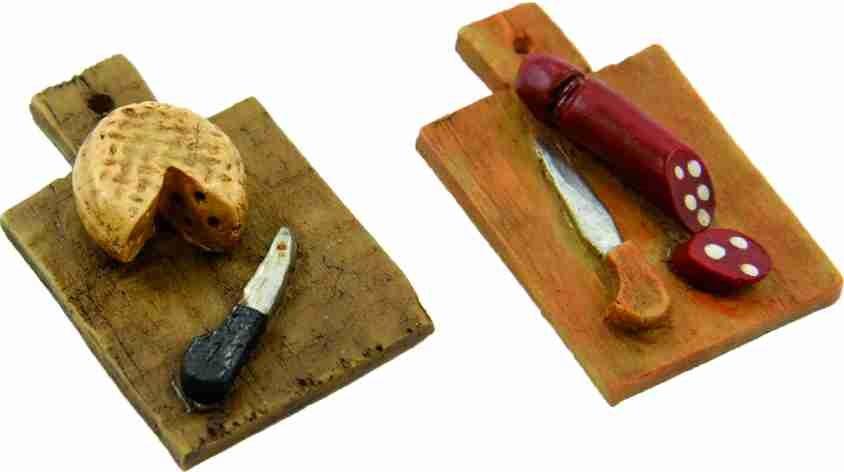 Minigarten zubeh r lebensmittel wurstplatte vesperplatte 2 teilig ebay - Minigarten zubehor ...