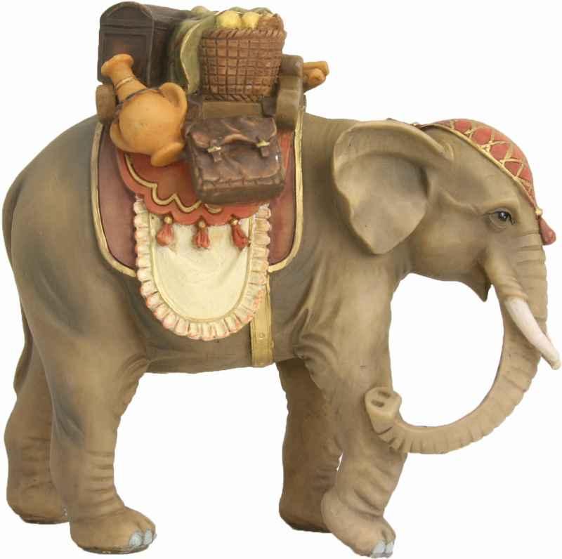 krippenfiguren tiere elefant mit gep ck f r figuren der gr e ca 9 11cm. Black Bedroom Furniture Sets. Home Design Ideas