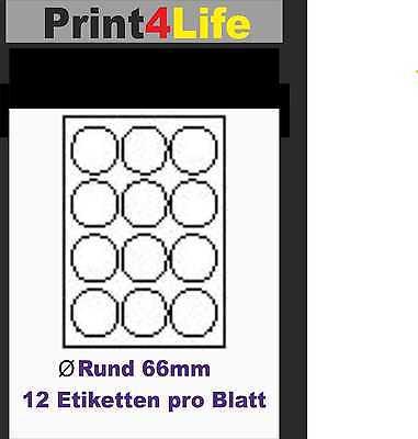Details Zu 1200 Drucker Etiketten 600 Rund Drucker Label Aufkleber Weiß Selbstklebend