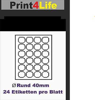 Details Zu 2400 Drucker Etiketten 400 Rund Drucker Label Aufkleber Weiß Selbstklebend