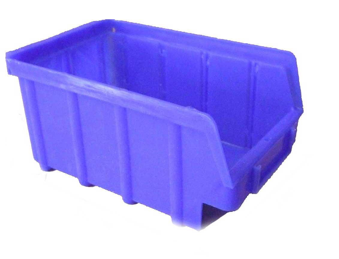 Industriebox 400 x 91 x 81 mm blau Stapelbox Schraubenbox 50 Stück
