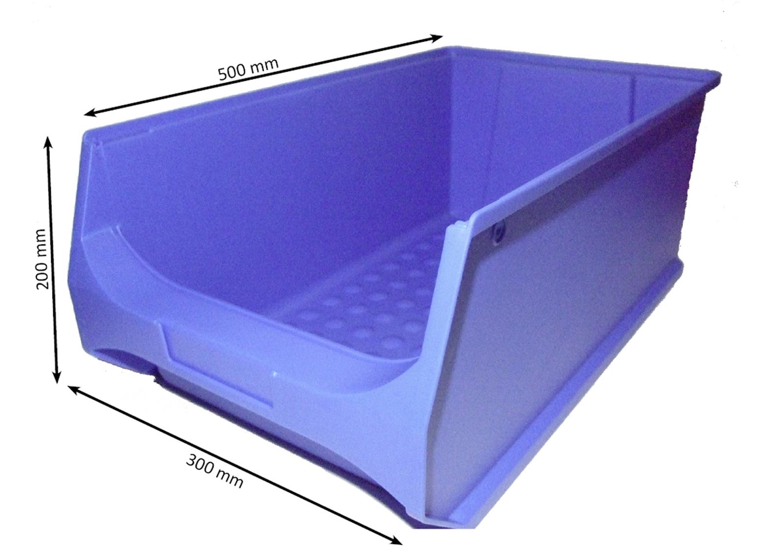 3 10 St/ück Stapelboxen stapelbar//Sichtbox//Regalbox//Lagerbox blau