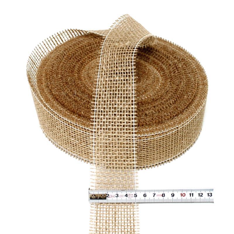 Juteband natur hart, 50mm breit - 40 Meter, Jute, Naturartikel ***