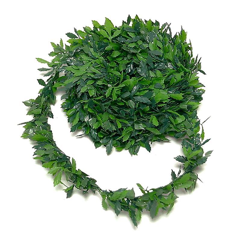 Rosenblatt, Blättermix - Girlande, 7,5 Meter Drahtgirlande 2ton grün !