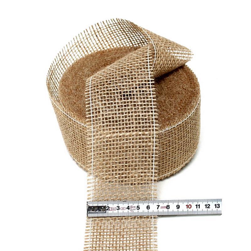 Juteband natur weich, 60mm breit - 25 Meter, Nice Price ***