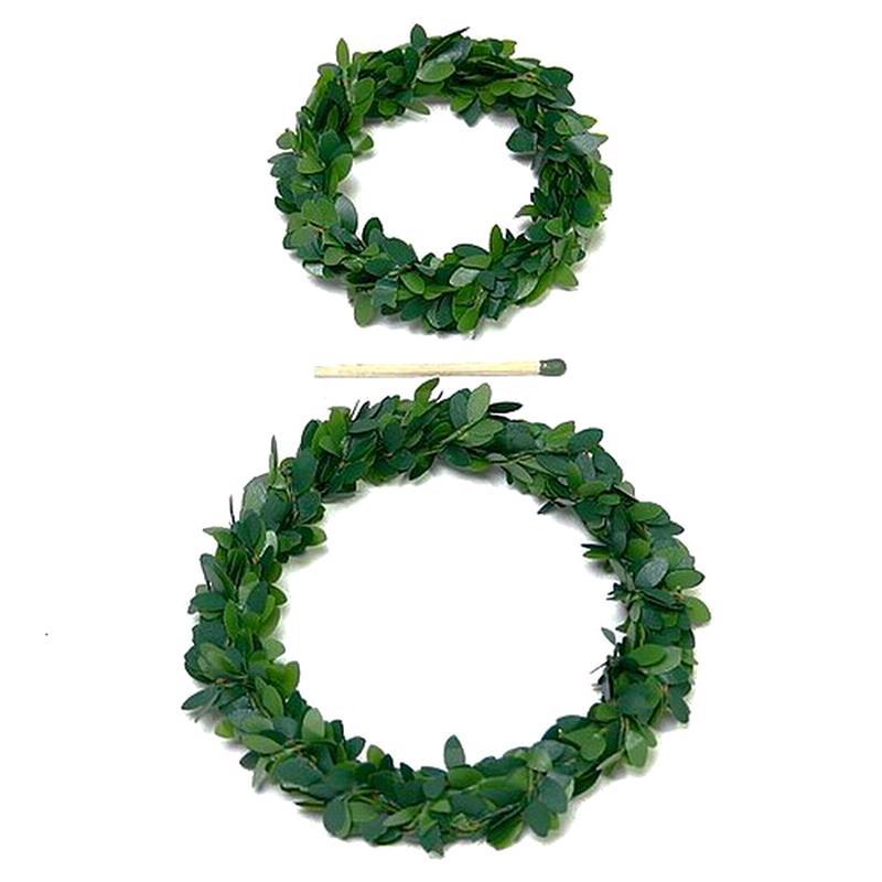 Mini - Buchs - Kränze, grün / 6 Stück 6cm - 10cm !!!