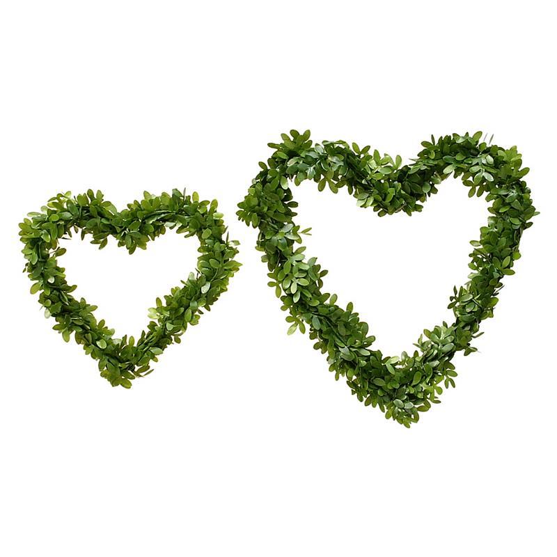 3x Buchsbaum- Herz natürlich, beidseitig, künstlich/ TOP QUALITÄT