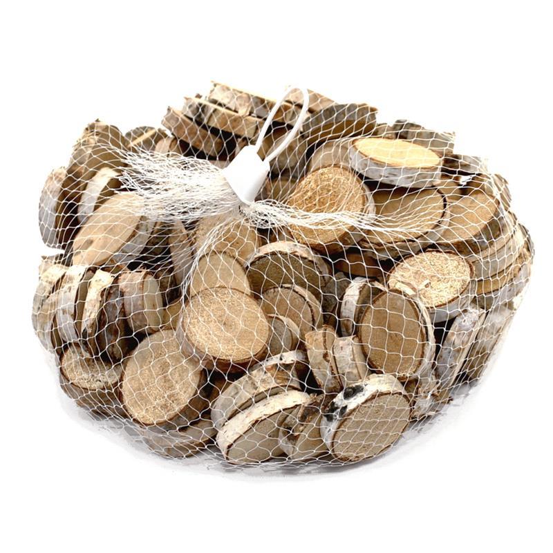 Holz- Scheiben Birke natur, rund ca. 2-3cm, 500gr. mindest. 100 Stück