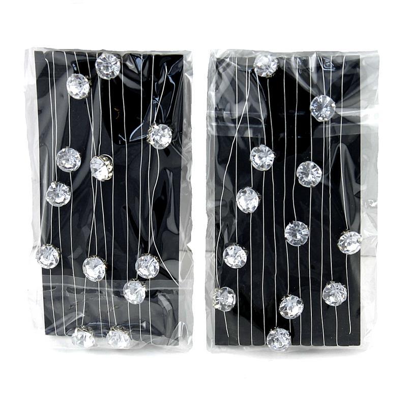 2x 2 Meter Diamanten-Girlande mit 23 künstlichen Steinen, D 8mm !!!