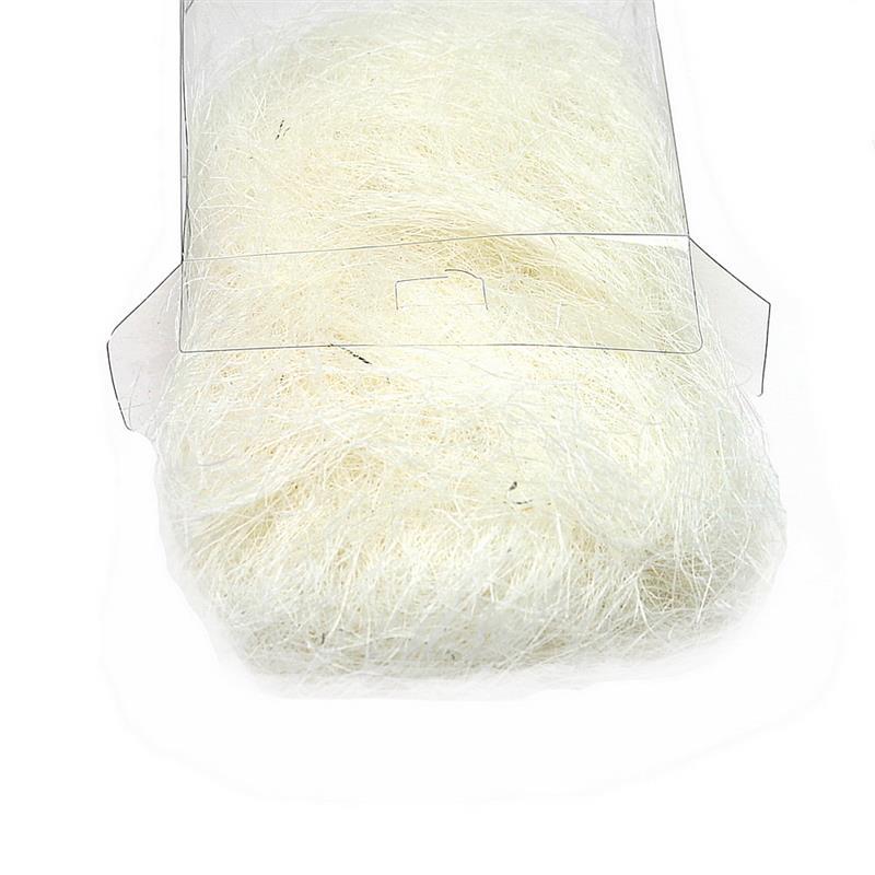 Sisalgras in Box 30gr. diverse Farben, Sisalwolle, Flachshaar *** 102 creme (geb