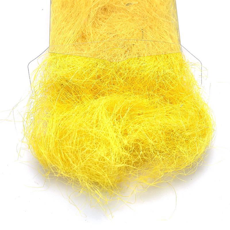 Sisalgras in Box 30gr. diverse Farben, Sisalwolle, Flachshaar *** 145 gelb