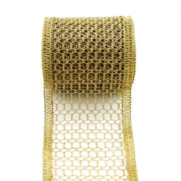 Gitterband, Tischband, gold/silber, 120mm 5 Meter Edel !!! gold