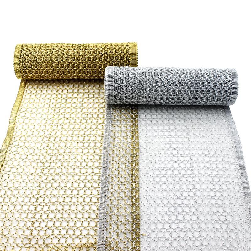 Gitterband, Tischband, gold/silber, 230mm 2,5 Meter Edel !!!