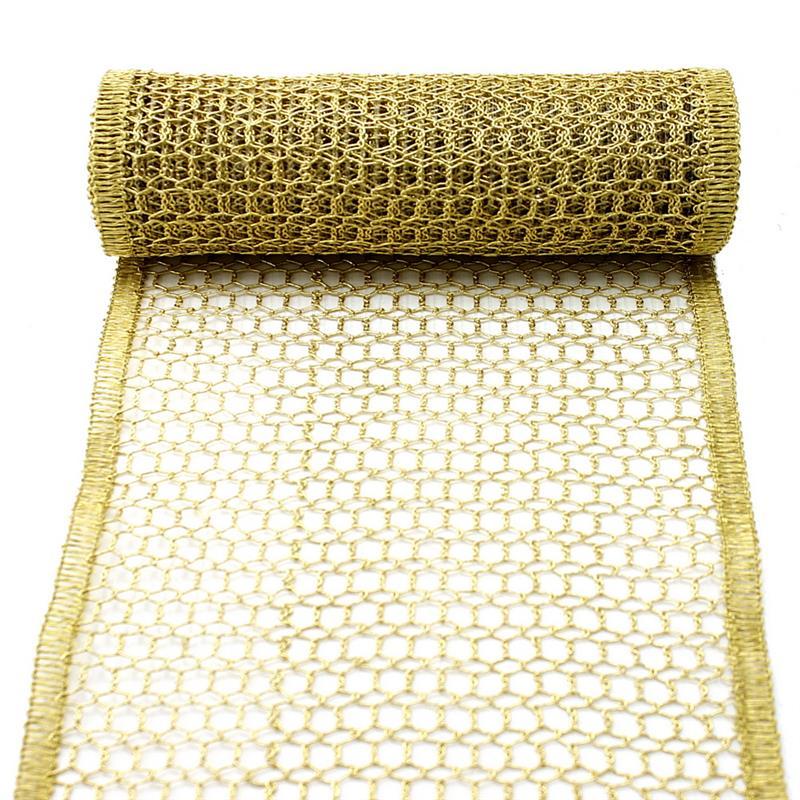 Gitterband, Tischband, gold/silber, 230mm 2,5 Meter Edel !!! gold