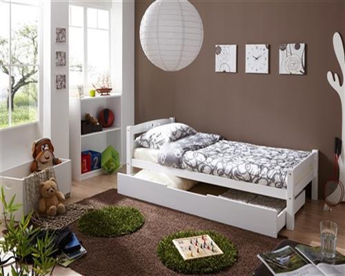 tagesbett bett salin buche massiv weiss lackiert 90x200 cm fun m bel. Black Bedroom Furniture Sets. Home Design Ideas
