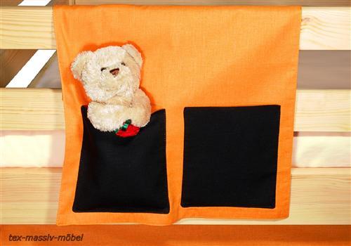 vorhangset neues design orange schwarz f r hochbet spielbett etagenbett fun m bel. Black Bedroom Furniture Sets. Home Design Ideas
