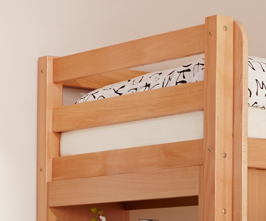 etagenbett oli mit rutsche buche natur inkl vorhang pirat schwarz ebay. Black Bedroom Furniture Sets. Home Design Ideas