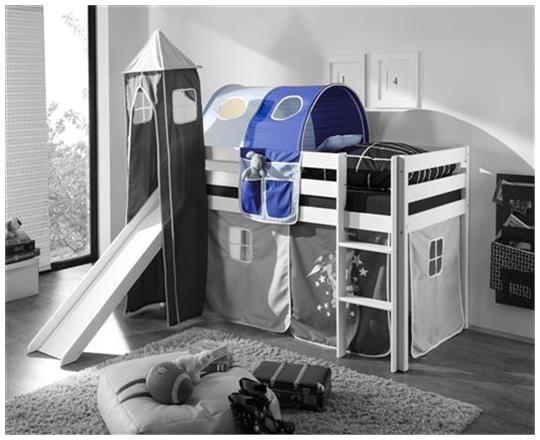 vorhang astronaut f r spielbett hochbett etagenbett. Black Bedroom Furniture Sets. Home Design Ideas