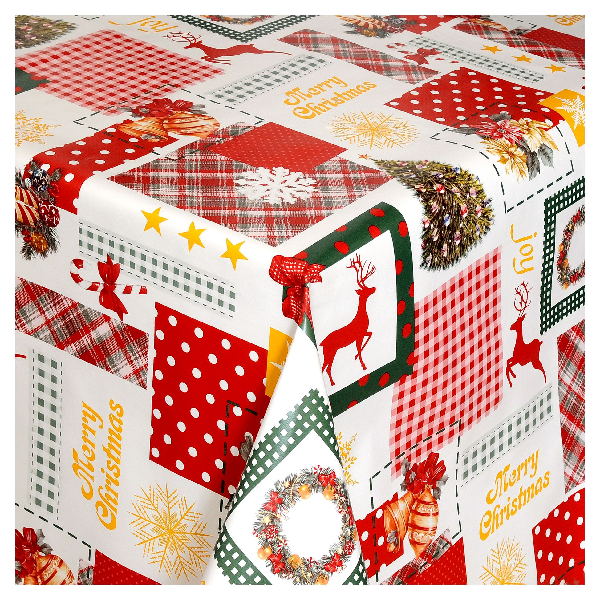 wachstuch tischdecke weihnachten weihnachtstischdecke tischtuch abwischbar ebay. Black Bedroom Furniture Sets. Home Design Ideas