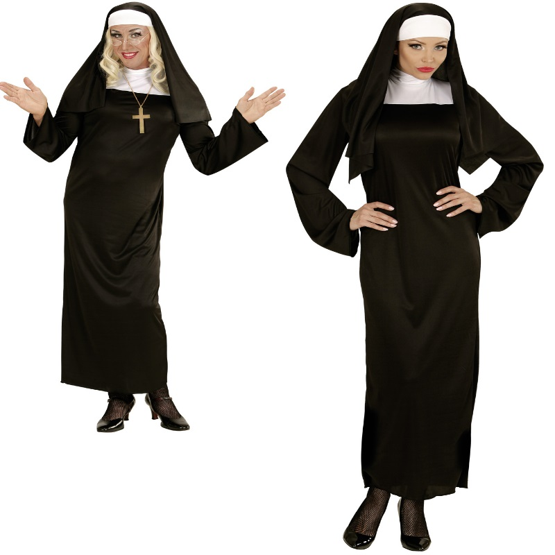 Nonne Oberin Damen Kostum Schwester Orden Kirche Karneval Fasching