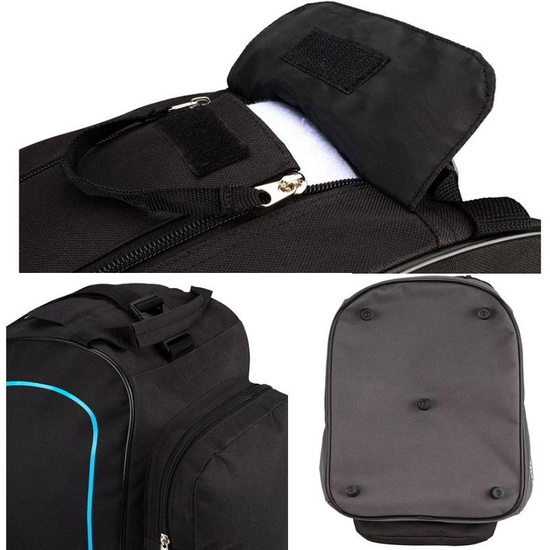 skischuhtasche mit zwei f chern schwarz rot summit inliner rollschuh tasche ebay. Black Bedroom Furniture Sets. Home Design Ideas