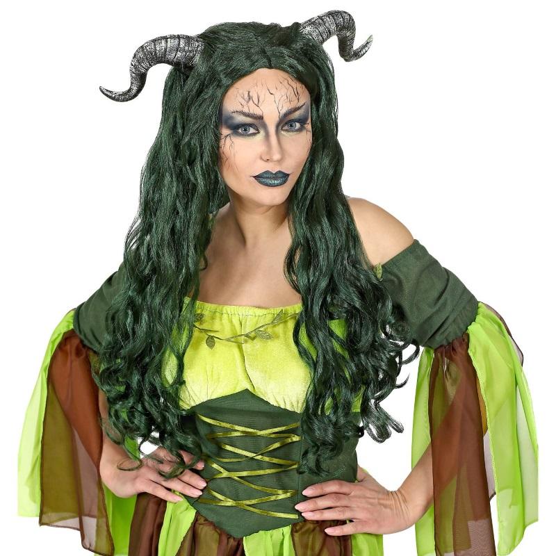 Waldhexen Damen Perucke Mit Horner Hexen Kostum Halloween Damonen