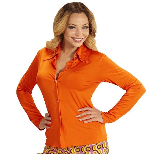 70er jahre damen bluse orange kost m zubeh r schlager. Black Bedroom Furniture Sets. Home Design Ideas