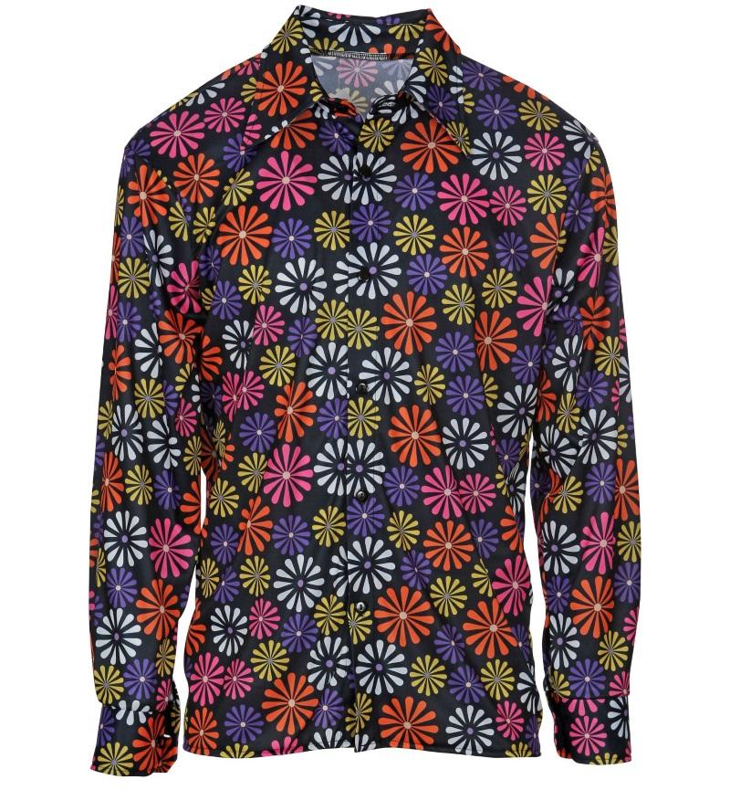 Buntes Hippiehemd Blumenhemd Herren Flower Power Outfit 60er 70er Jahre Kleidung