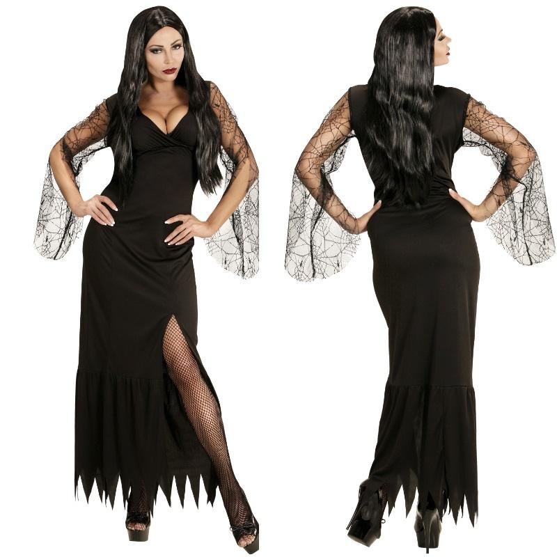 dark vampirella gothic lady schwarze witwe damen kost m. Black Bedroom Furniture Sets. Home Design Ideas