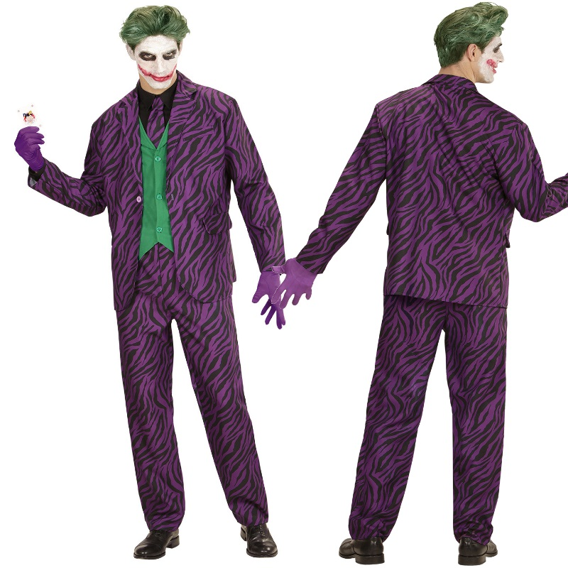 evil joker herren kost m anzug jacke weste hose krawatte. Black Bedroom Furniture Sets. Home Design Ideas