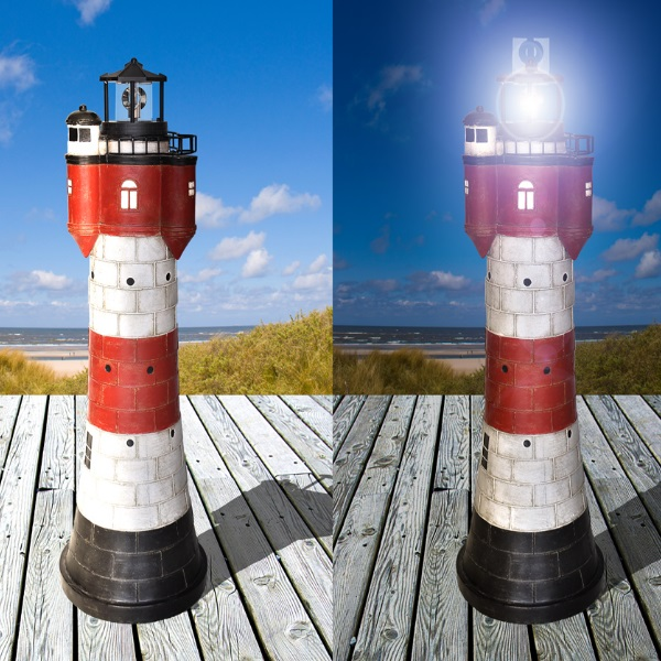 aus Polyresin 15 x 8 x 6 cm Maritime Deko Leuchtturm Borkum ca