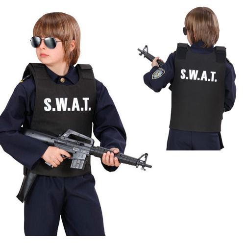 Swat weste kinder kost m undercover polizei sondereinsatz for Geburtstagsdeko junge