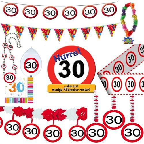 Geburtstagsdeko 30 Geburtstag Verkehrsschild Party Zubehör