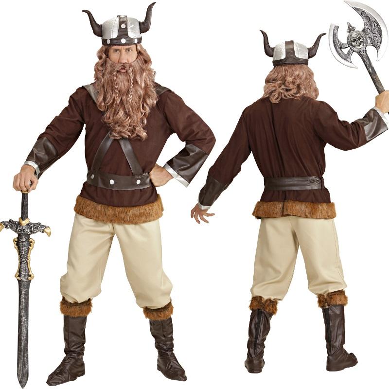 wikinger herren kost m deluxe erik der barbar nordmann karneval fasching ebay. Black Bedroom Furniture Sets. Home Design Ideas