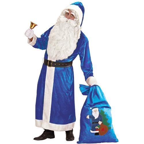 weihnachtsmann mantel 54 xl samt blau v terchen frost. Black Bedroom Furniture Sets. Home Design Ideas