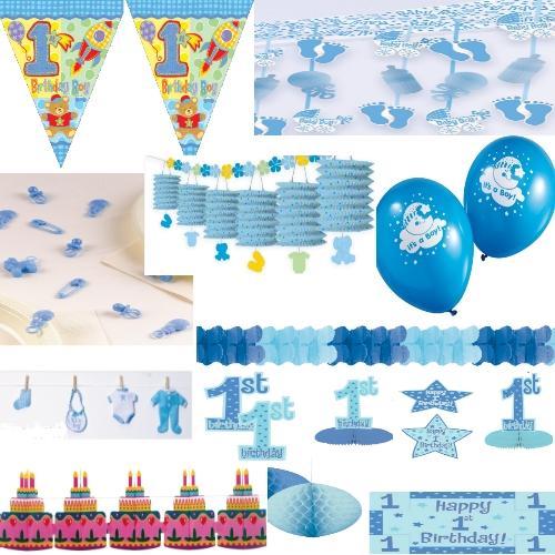 geburt junge deko baby shower party deko blau hellblau feier geburtstag ebay. Black Bedroom Furniture Sets. Home Design Ideas