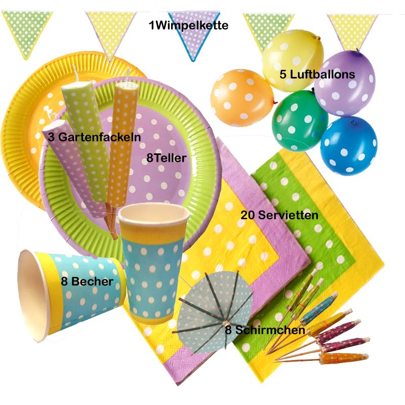 LOL Glitterati Party-Set 52tlg für 16 Gäste Teller Becher Servietten