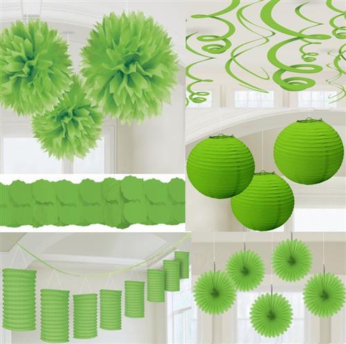 party deko gr n papier laterne f cher girlande pompom hochzeit geburtstag ebay. Black Bedroom Furniture Sets. Home Design Ideas