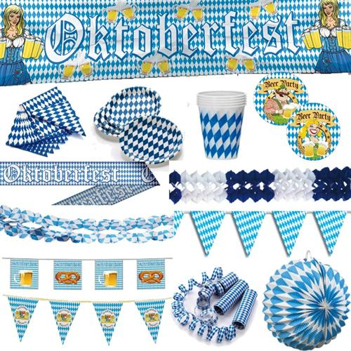 oktoberfest blau weiss deko bayern party bavaria bayrische deko auswahl ebay. Black Bedroom Furniture Sets. Home Design Ideas