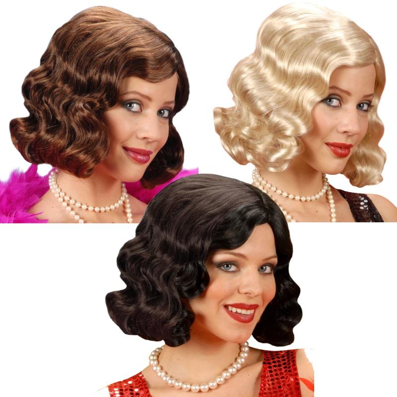 Blonde 20er 30er Jahre Perücke Charleston Gatsby Damenperücke Flapper Kostüm