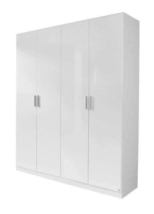 kleiderschrank 4 trg schrank h 210 cm schlafzimmer weiss. Black Bedroom Furniture Sets. Home Design Ideas