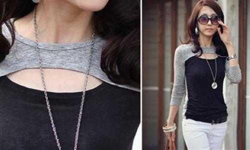 Damen-Zweifarbige-Oberteil-Bluse-Tunika-Longshirt-Boho-Style-S-M-L-XL Indexbild 5
