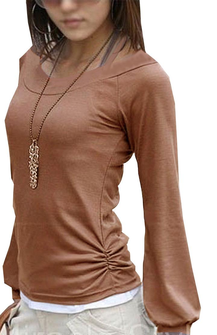 Mississhop Tunika Bluse Langarm Shirt Longshirt mit Reißverschluss Baumwolle