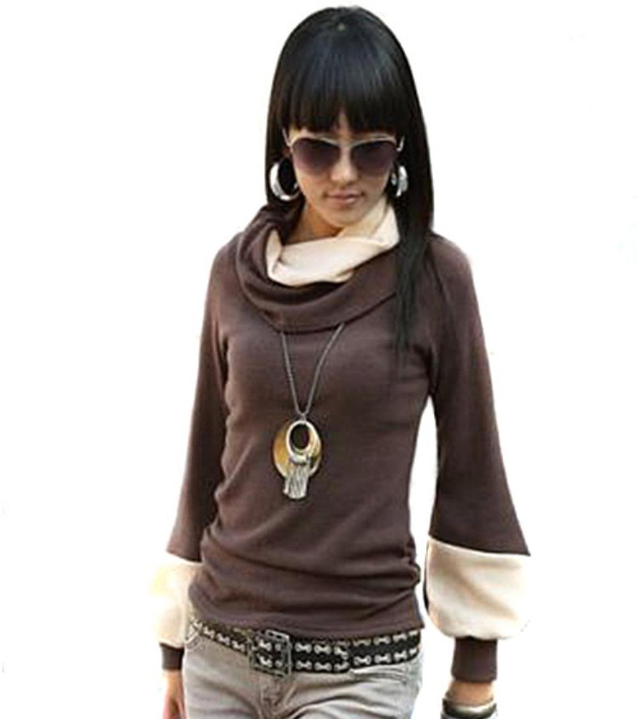 Damen Pullover Longshirt Sweatshirt Tunika Winter Pulli Shirt Sweater 40-42-44